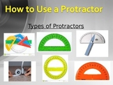 How to Use a Protractor Power Point, Note Taking Guide, an