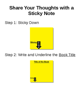 How to Use a Sticky Note to Share Your Thoughts POSTER