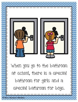 How to Use the Bathroom Class Book & Poster