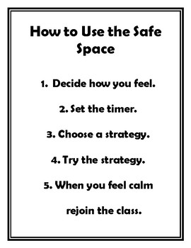 How to Use the Safe Space Poster