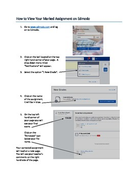 How to View Your Marked Assignment on Edmodo