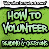 How to Volunteer Reading & Questions - High School SPED