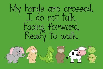 How to Walk in Line Animal Poster