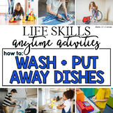 How to Wash Dishes + Put Away Life Skill Anytime Activity | Life Skills Activity