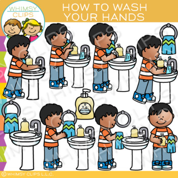 How to Wash Your Hands: Sequencing and Hygiene Clip Art