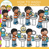 How to Wash Your Hands Clip Art: Sequencing and Hygiene Clip Art