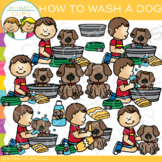 How to Wash a Dog Clip Art