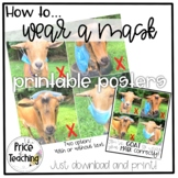How to Wear a Mask Poster FREEBIE!