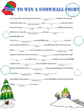 How to Win a Snowball Fight: A Winter Madlib