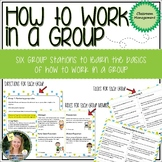 How to Work in a Group - a collaborative group activity