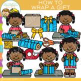 How to Wrap a Gift Clip Art {Christmas Clip Art}