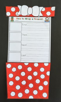 How to Wrap a Present Christmas writing and Craftivity.  Freebie