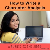 How to Write A Character Analysis Writing Exercise With Rubric
