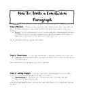 How to Write A Conclusion FREEBIE