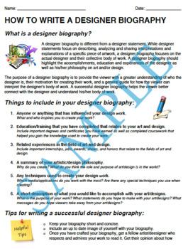 How to Write A Designer Biography