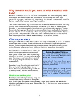 How to Write A Musical With Kids EvenIfYouDon'tKnowAnythingAboutMusicOrTheatre