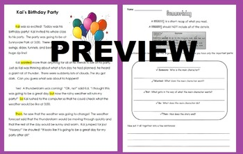 How to Write A Summary: Reading Passage and Graphic Organizer Activity Homework