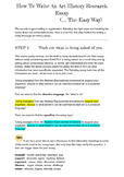 How to Write An Art History Research Essay