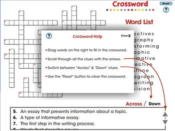 How to Write An Essay: Crossword - PC Gr. 5-8