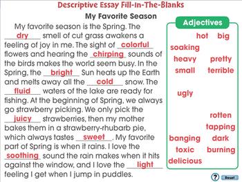 How to Write An Essay: Descriptive Essay - MAC Gr. 5-8