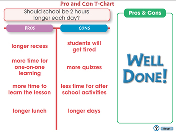 How to Write An Essay: Pro and Con T-Chart - NOTEBOOK Gr. 5-8
