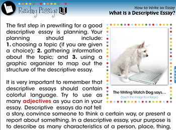 How to Write An Essay: What Is a Descriptive Essay? - PC Gr. 5-8