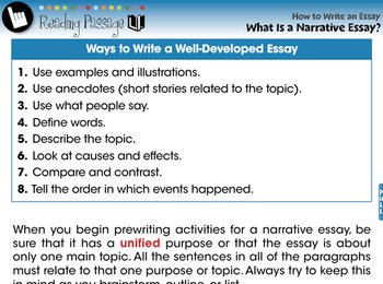How to Write An Essay: What Is a Narrative Essay? - NOTEBOOK Gr. 5-8