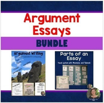 How to Write Argumentative Essays + Parts of an Essay Visual System: BUNDLE!