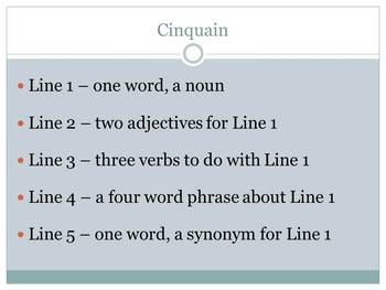 How to Write Cinquain Poems