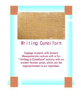 How to Write Cuneiform. Cuneiform Writing Assignment. Fun Activity!