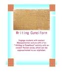 How to Write Cuneiform. Cuneiform Writing Assignment. Fun