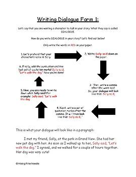 How to Write Dialogue - Form 1