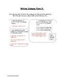How to Write Dialogue - Form 2
