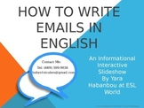 How to Write E-mails ESL PowerPoint Interactive Presentation