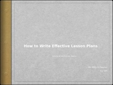 How to Write Effective Lesson Plans