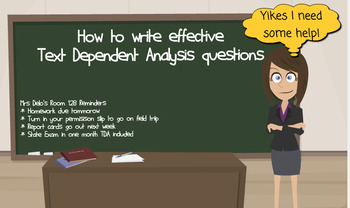 How to Write Effective Text Dependent Analysis Questions TDA