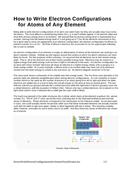 How to Write Electron Configurations for Any Element