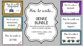 Genre Writing Bundle - a writing 'how to' and assessment pack