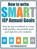 How to Write IEP Goals Workbook - Special Education