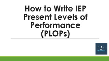 How to Write IEP Present Levels of Performance