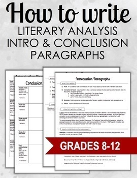 How To Write A Conclusion For A Literary Analysis