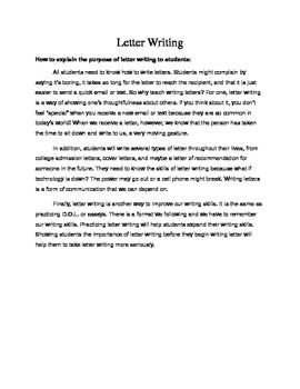 How to Write Letters: Examples and Prompts