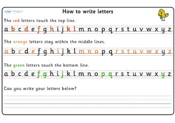 How to Write Letters Writing Strips
