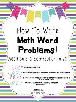 How to Write Math Word Problems - Addition and Subtraction to 20