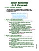 How to Write Paragraph Detail Sentences