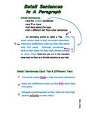 How to Write Paragraph Detail Sentences