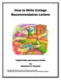 Recommendations: How to Write Recommendation Letters for C