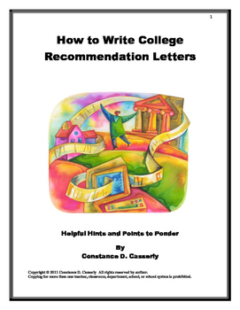 recommendations how to write recommendation letters for college applications