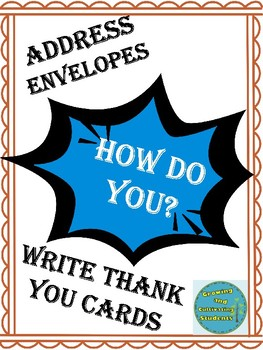 How to Write Thank You Cards and Addressing Envelopes