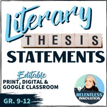 how to write literary thesis statements   high school student resource original  jpg